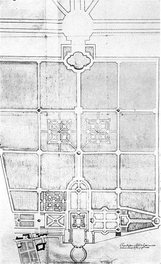 Gardens of Versailles - Garden plan, c. 1663
