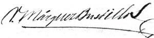 Victorino Márquez Bustillos - Image: Victorino Márquez Bustillos signature