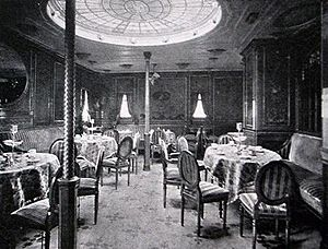 "SS Kronprinzessin Cecilie (1906) - The so-called ""Vienna Café"" on Kronprinzessin Cecilie"