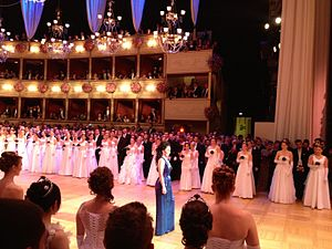 Vienna Opera Ball - Opera singer Margarita Gritskova singing an aria during the opening ceremony (2014)