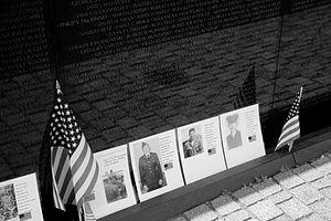 Vietnam War casualties - The Vietnam Veterans Memorial, USA (Washington, D.C.).