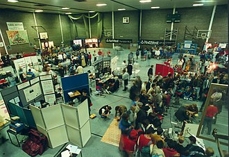 First Robot Olympics - Image: View Hall