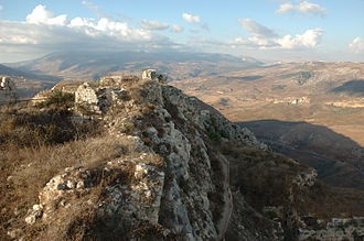 Beaufort Castle, Lebanon - View from the top of Beaufort Castle