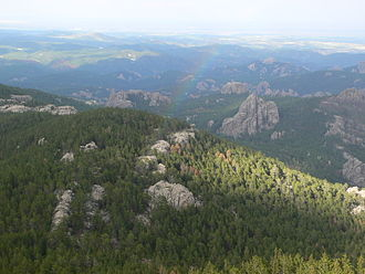 Black Elk Peak - Image: View from the top of Harney Peak