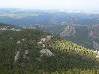 Black Elk Peak - Image: View from the top of Harney Peak