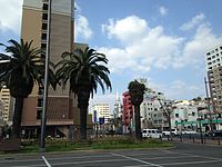 View in front of East Entrance of Sasebo Station 20141230-4.JPG