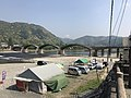 View of Tenshu of Iwakuni Castle and Kintaikyo Bridge 2.jpg