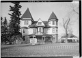 View of southeast elevation - Ivinson Mansion, 603 Ivinson Avenue, Laramie, Albany County, WY HABS WYO,1-LARAM,2-3.tif