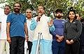 Vijay Goel addressing at the flag-off ceremony of the 7th Slum Yuva Daud, at Tughlaqabad Village Fort, in New Delhi.jpg