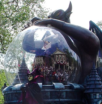 Chernobog - Chernabog from Fantasia (on the right) with Maleficent and the Evil Queen at Walt Disney World in 2006