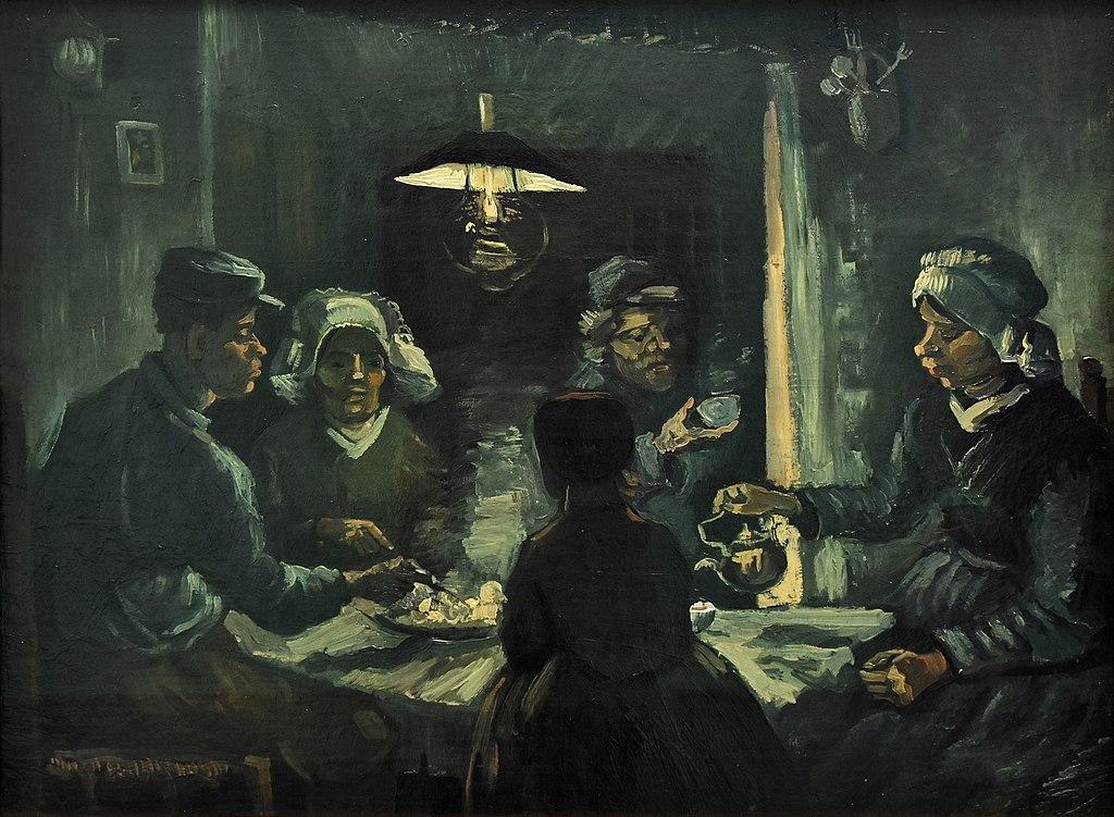 Vincent van Gogh (1853-1890) De aardappeleters (tweede voorstudie) Kröller-Müller Museum Otterlo 23-8-2016 13-40-54