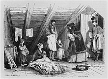 Visiting the poor, illustration from 'Le Magasin Pittoresque', Paris, 1844 by Karl Girardet.jpg