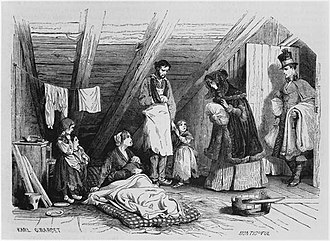 "Paris under Louis-Philippe - ""Visiting the Poor"", from the illustrated French magazine Le Magasin pittoresque (1844)"
