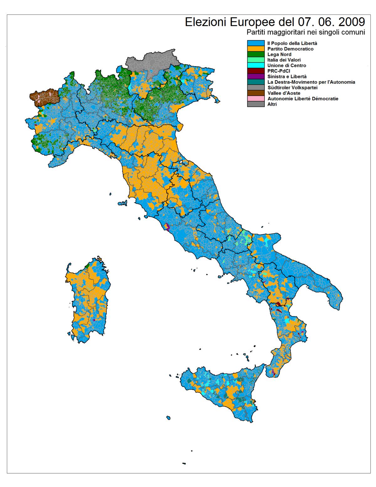 Elezioni europee del 2009 italia wikipedia for Numero deputati italiani