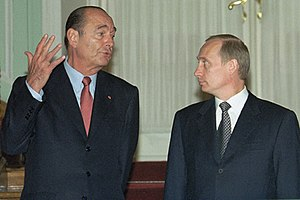 Jacques Chirac - Chirac with Russian President Vladimir Putin in 2001