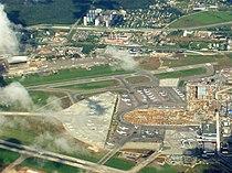 Vnukovo airport under renovation aerial view.JPG