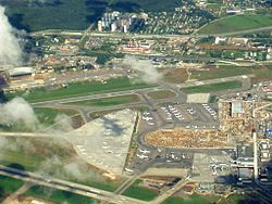 Vnukovo airport under renovation aerial view.JPG