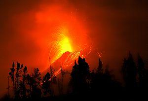 Tungurahua - Image: Volcán Tungurahua 2011