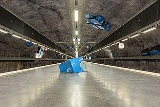 Solna strand metro station - Image: Vreten May 2014 02