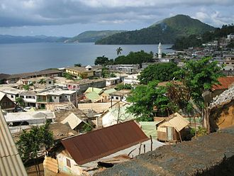Mayotte - A view of Sada including mosque