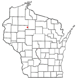 Location of Hawkins, Wisconsin