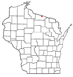 Location of Land O' Lakes, Wisconsin