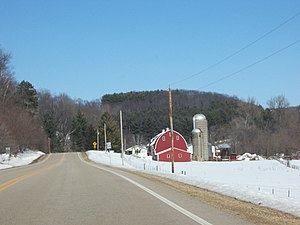 Richland County, Wisconsin - Farm along Highway 58 in rural Richland County near Cazenovia