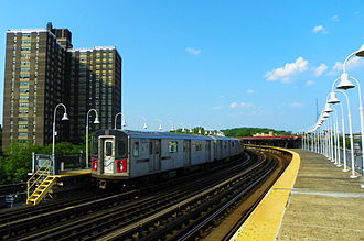IRT White Plains Road Line - West Farms Square station is a southern station of the White Plains Road Line.