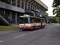 WUCC 2010, Strahov, příjezd autobusu.jpg