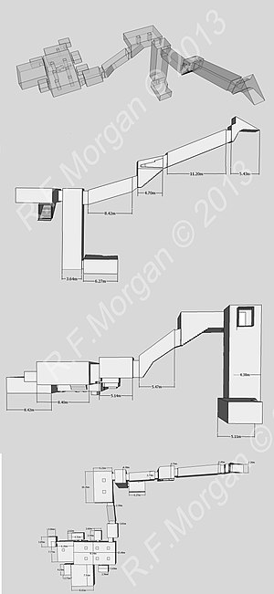 WV22 - Isometric, plan and elevation images of WV22 taken from a 3d model