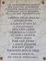 WWII plaque 1999, Rákoskert 2016 Hungary.jpg