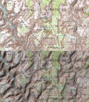Mapa topograficzna USGS bez i z cieniowaniem (NASA World Wind)