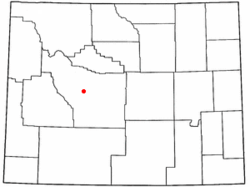 Location of Ethete, Wyoming