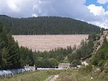 Reservir of the Dospat Dam.