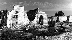 War-damaged houses in Hargeysa, a major city i...