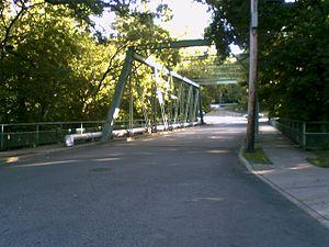 Ho-Ho-Kus, New Jersey - Warren Avenue Bridge crossing the Ho-Ho-Kus Brook