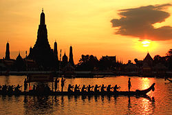 Wat Arun Ratchawararam and Royal Barge Procession.JPG