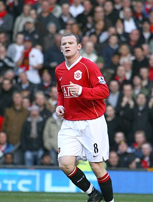 Wayne Rooney playing for Manchester United F.C.