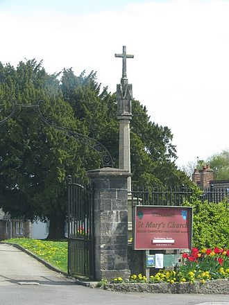Wedmore - The cross outside St Mary's Church