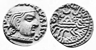 Damasena - Coin of Western Satrap Damasena.