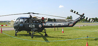 Westland Wasp - Privately owned Westland Wasp HAS.1 (XT781) at the Classic-Jet Air Show, Kemble, England, in 2003. On the UK Civil Register, in Royal Navy markings, as G-KAWW.