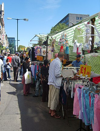 Whitechapel Road - Whitechapel Road market