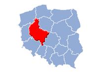Storpolens vojvodskaps beliggenhed i Polen.