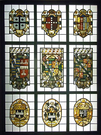 Robert Bell (Speaker) - Beaupré Hall heraldic stained glass