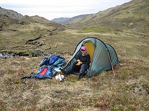 English: Wild Camp Just above Abhainn Sithidh ...
