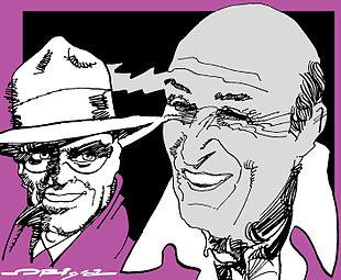 Spirit & Will Eisner in un ritratto di Graziano Origa