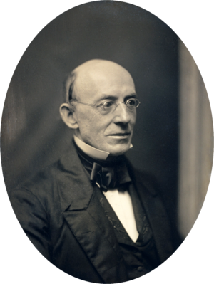 Moral suasion - William Lloyd Garrison, who attempted to end slavery through moral suasion.
