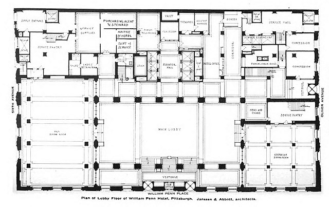 File William Penn Hotel Lobby Floor Plan Jpg Wikimedia