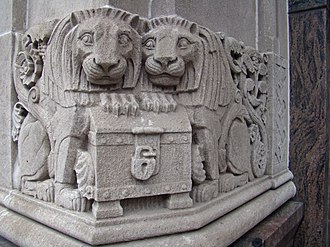 Williamsburgh Savings Bank Tower - Image: Williamsburgh Savings Bank corner lion