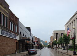Williamson, West Virginia; view looking down East 2nd Ave.